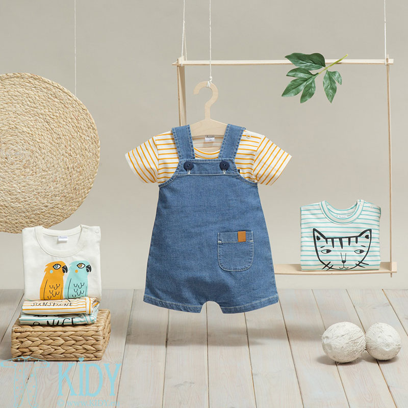 Blue SUN & FUN dungaree