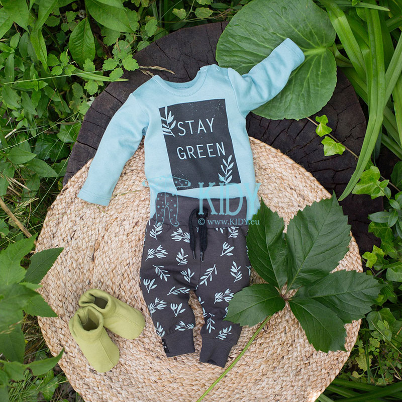 Turquoise STAY GREEN bodysuit