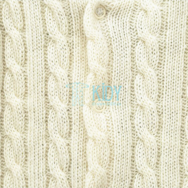 Cremy knitted wool overall