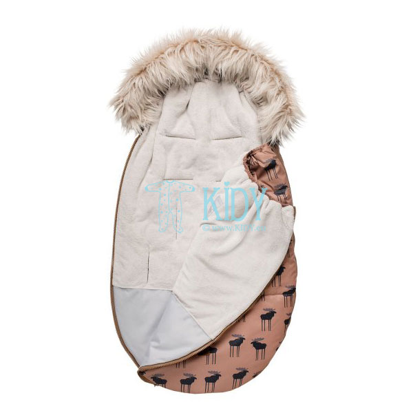 Brown W20 stroller footmuff