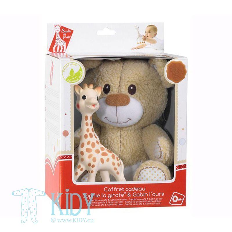 Žirafa SOPHIE su meškinu Gabin