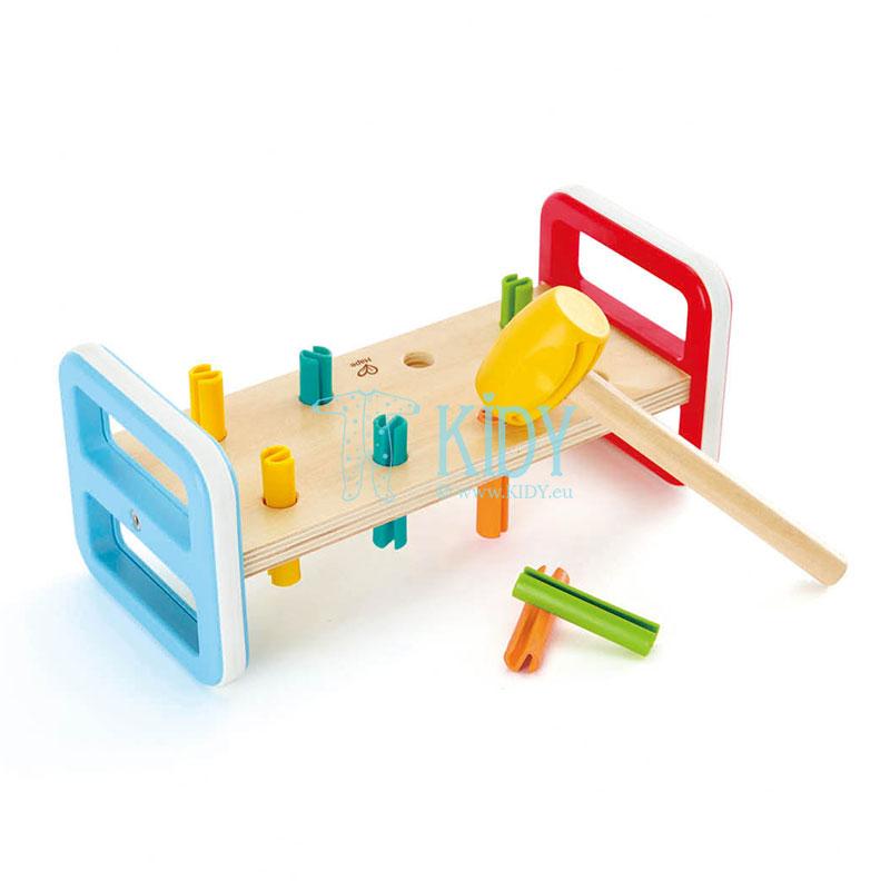 Lavinantis žaislas Spalvingas grūstuvėlis (Hape)