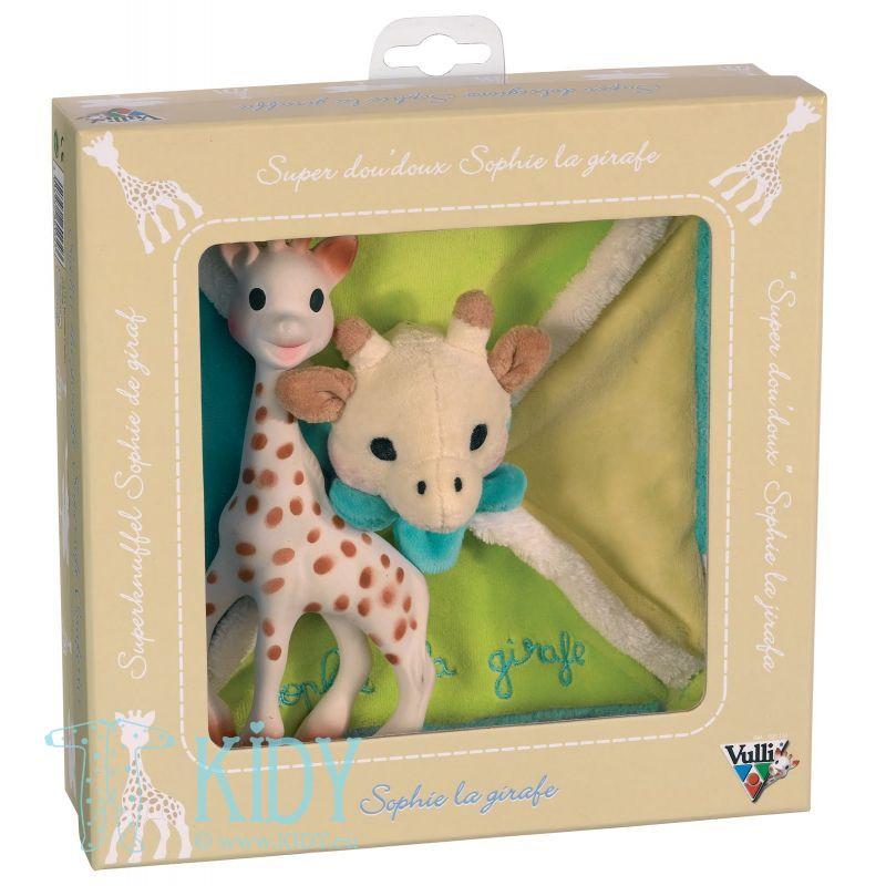 Komplektas SOPHIE la Girafe: kramtukas + miego žaislas