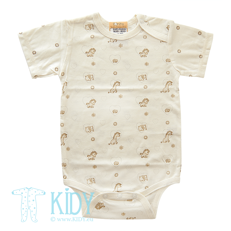 Cream bodysuit MINI ZOO