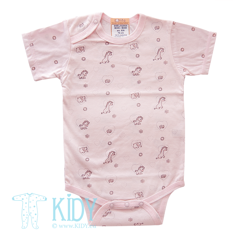 Pink bodysuit MINI ZOO (Lorita)