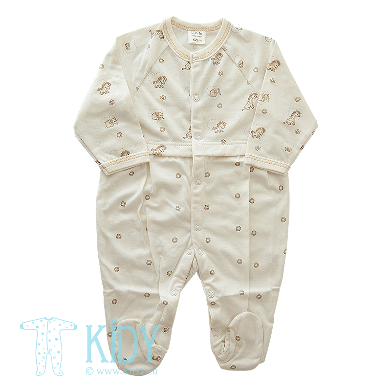 Creamy sleepsuit MINI ZOO (Lorita)