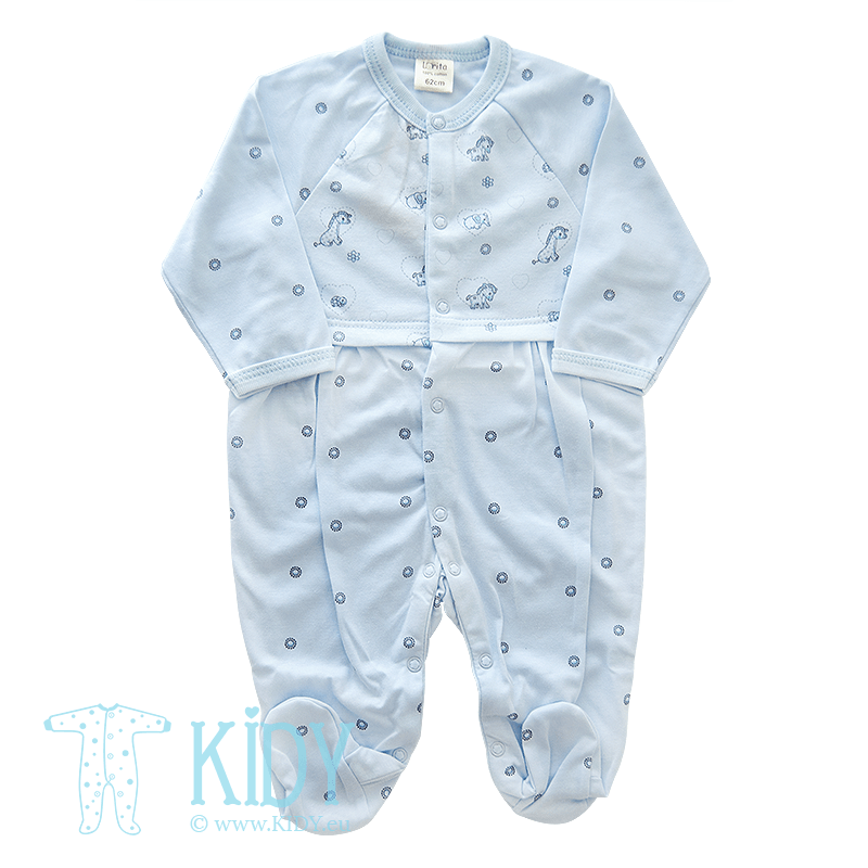 Light blue sleepsuit MINI ZOO