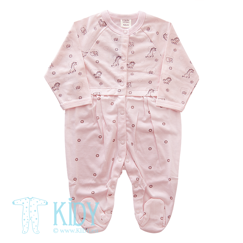 Pink sleepsuit MINI ZOO (Lorita)
