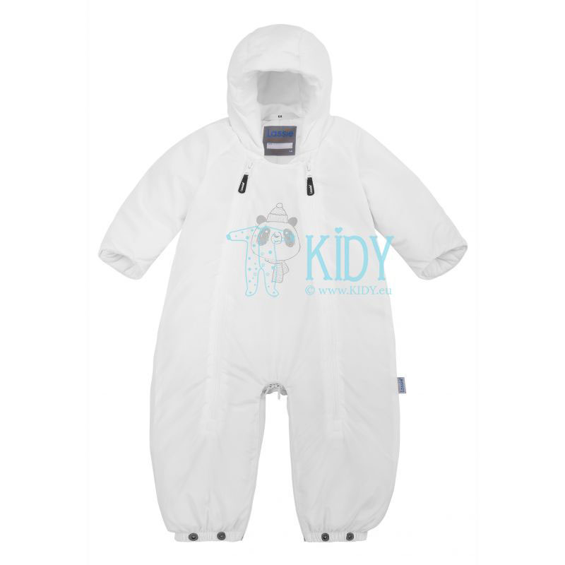 White MEYLA 2 in 1 snowsuit with mitts