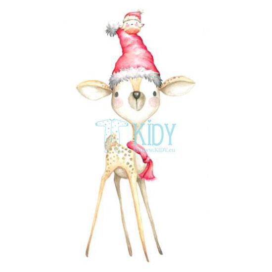 Kalėdinis komplektas: kombinezonas-pižama + kepurytė