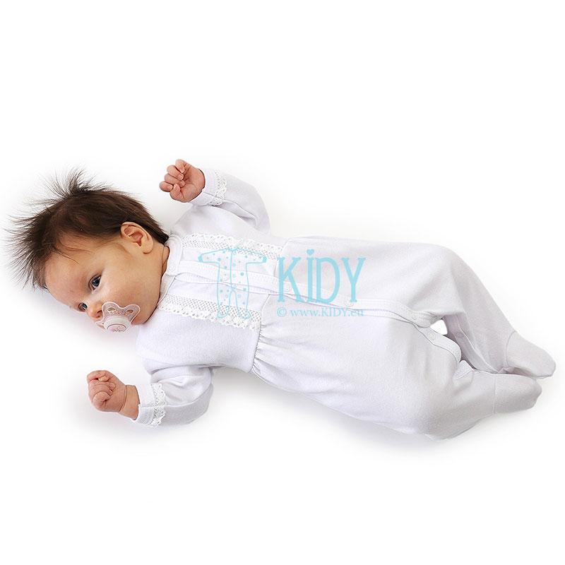 Baltas miego kombinezonas