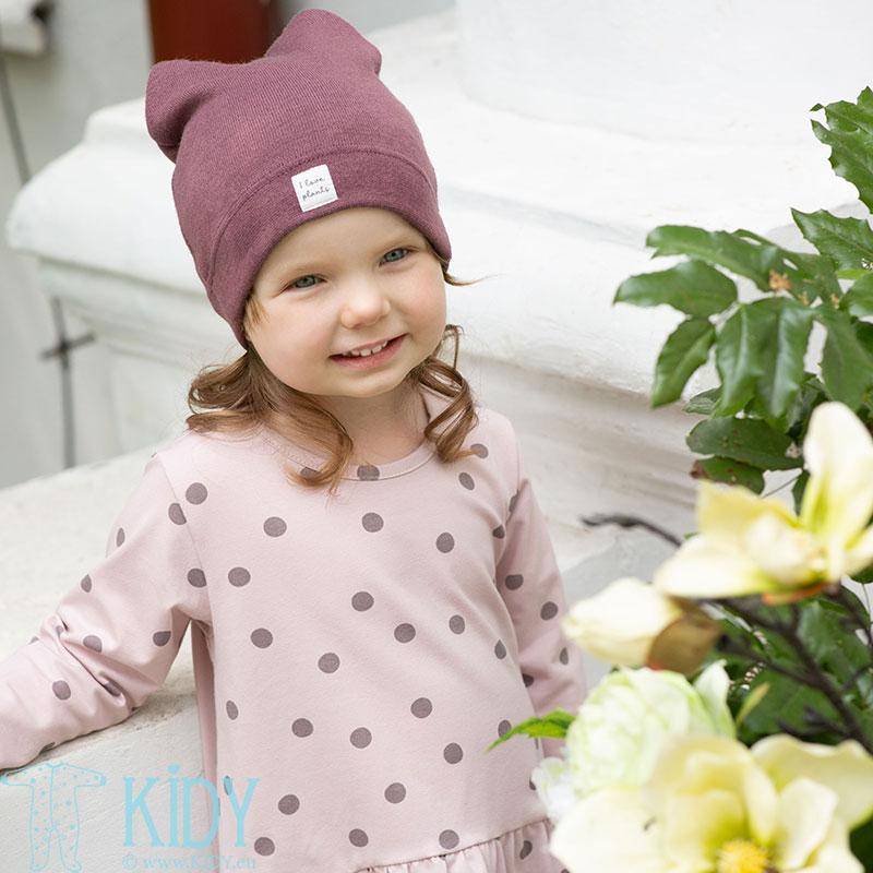 Bordo spalvos megzta kepurė JULIA