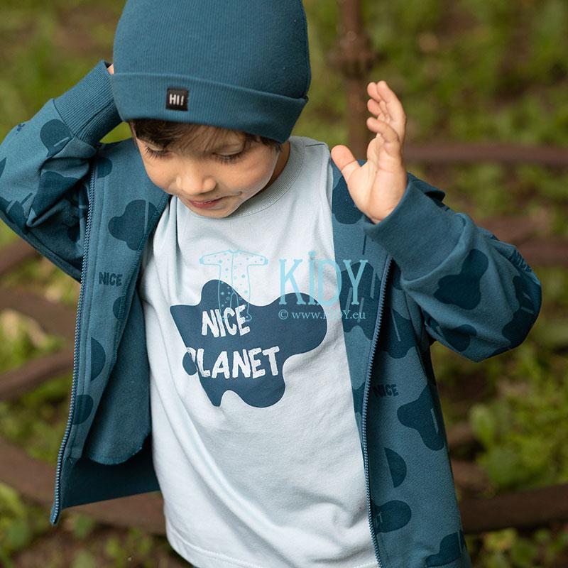 Žydri marškinėliai trumpomis rankovėmis TEO