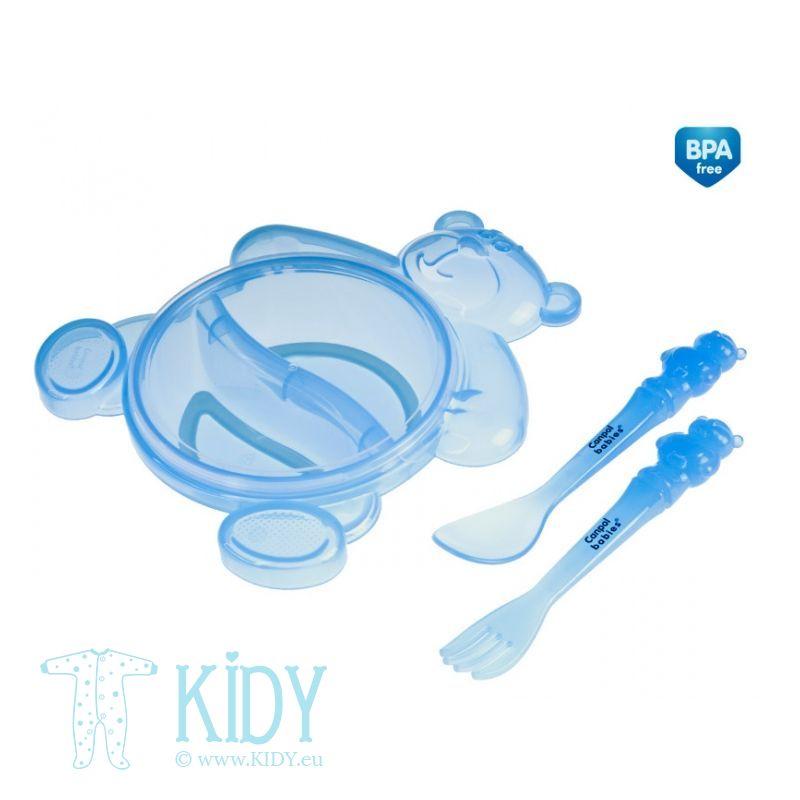 Dubenėlis plastikinis ir įrankiai HAPPY BEAR (Canpol Babies) 3