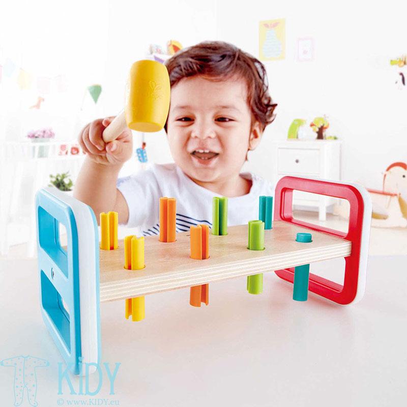 Lavinantis žaislas Spalvingas grūstuvėlis (Hape) 3