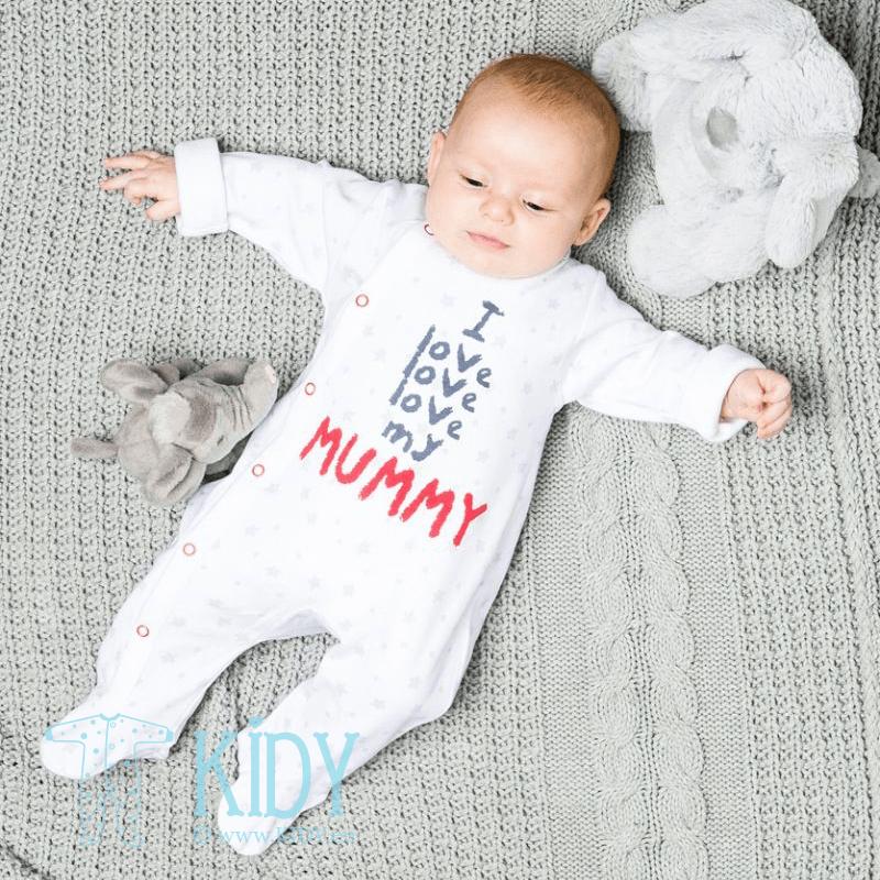 Baltas kombinezonas-pižama ZEBRA
