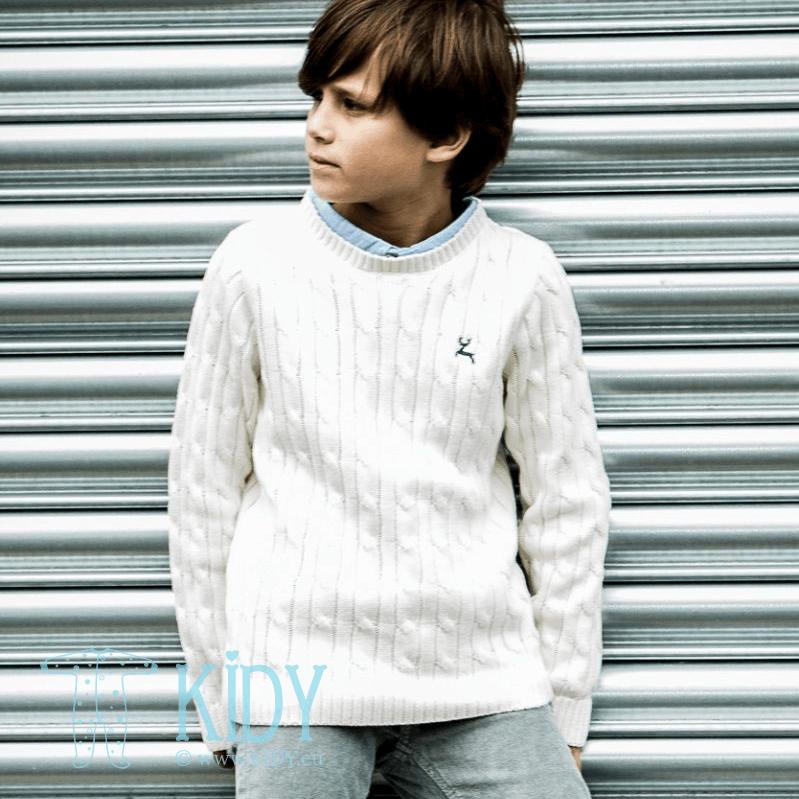 Baltas džemperis CAMDEN