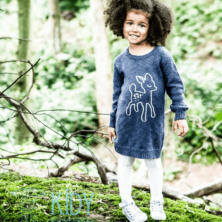 Navy set FOREST: dress + tights