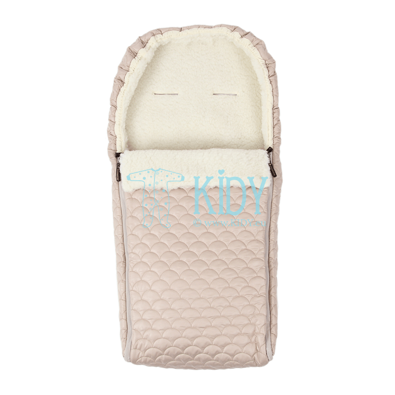 Beige winter sleeping bag UNIVERSAL