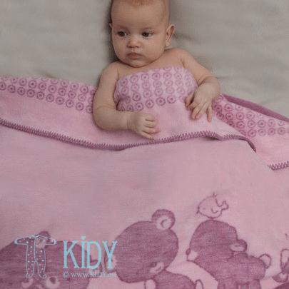 Розовый плед POPSI