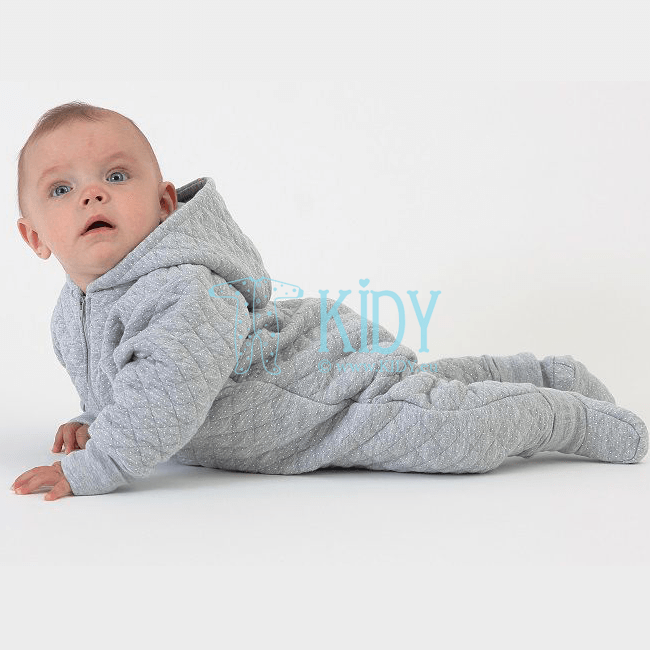 Grey MIMI overall with mitts for spring/autumn