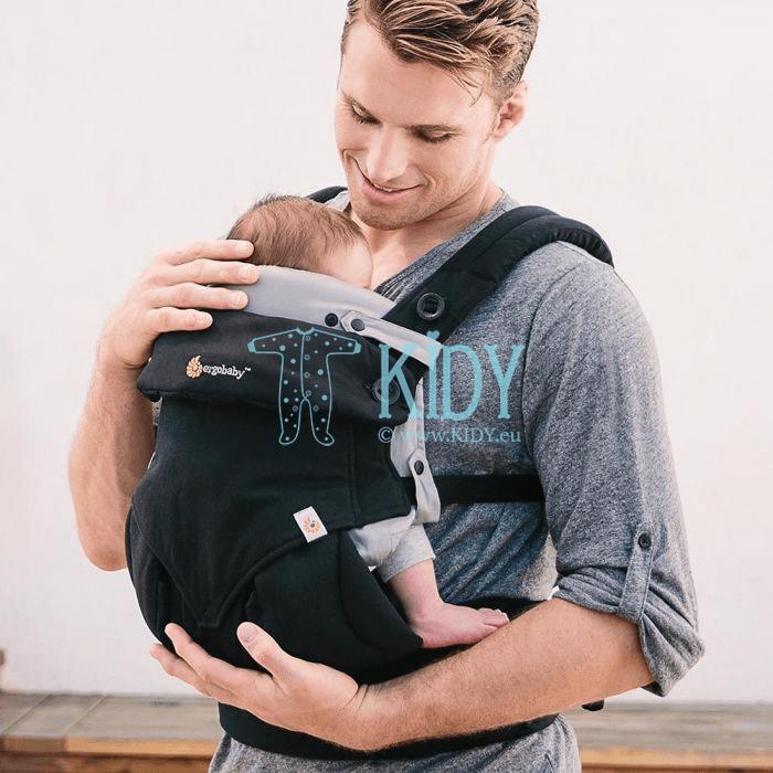 Серая вставка для новорожденных Grey