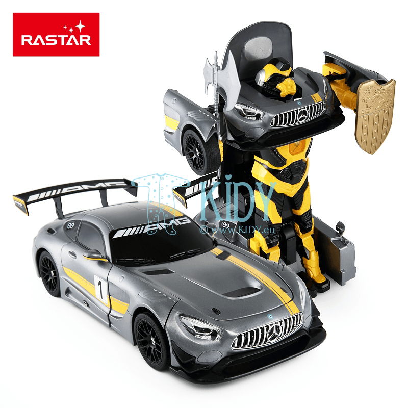 Radio controlled transformable car (RC 1:14 Mercedes-Benz GT3)