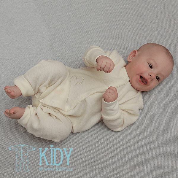 Creamy LOLLY LAMB merino wool sleepsuit (Lorita) 3