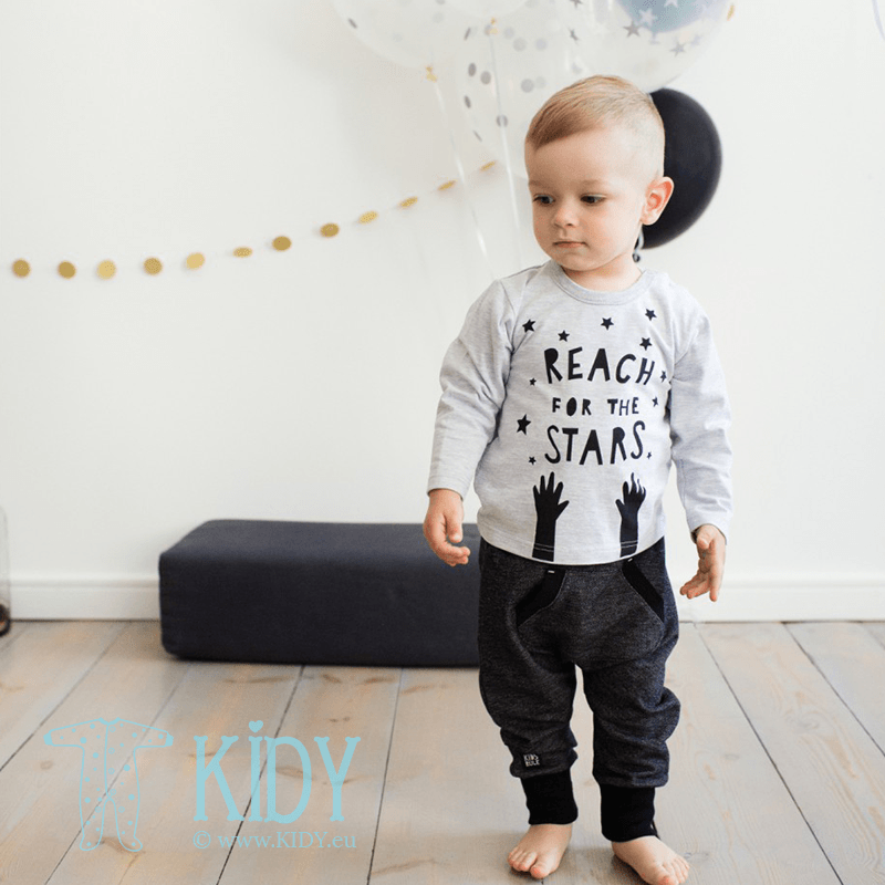 Black HAPPY DAY pants