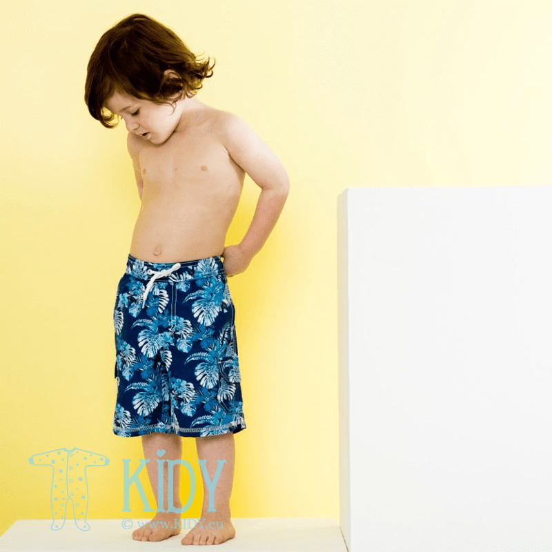 Mėlyni šortai tinka maudytis HIBISCUS