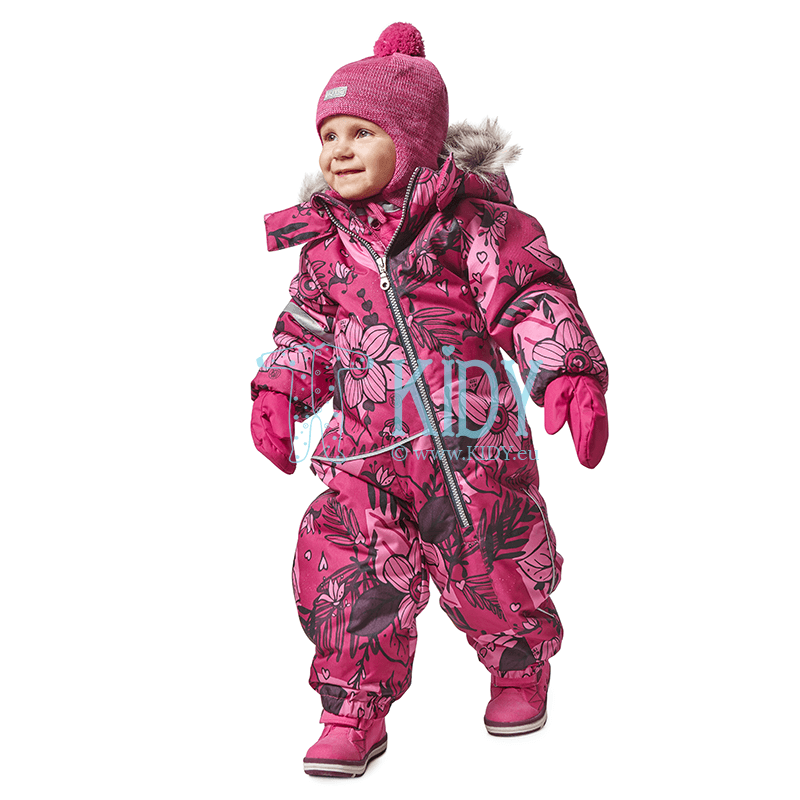 Pink FLOWERS winter overall
