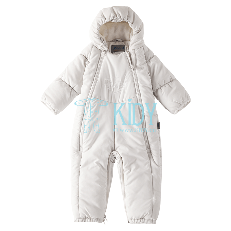 White FOX winter overall transformer with anti-scratch mitts (Lassie by Reima) 3