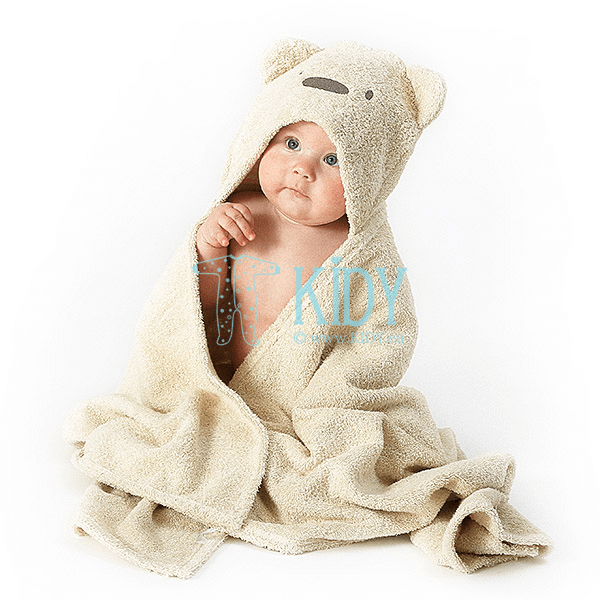 Brown hooded MESKUTIS towel