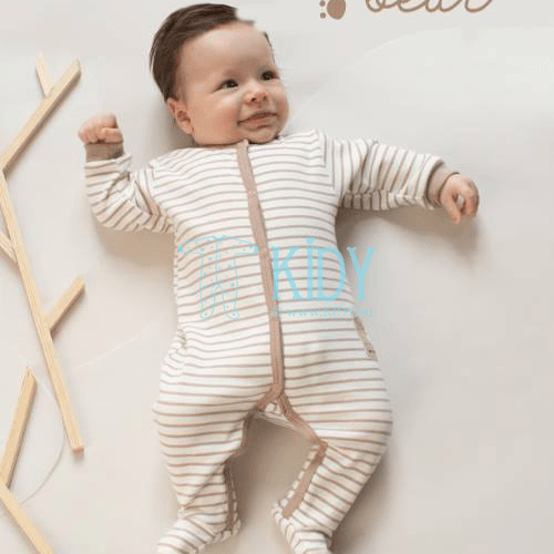 Beige TEDDY BEAR sleepsuit