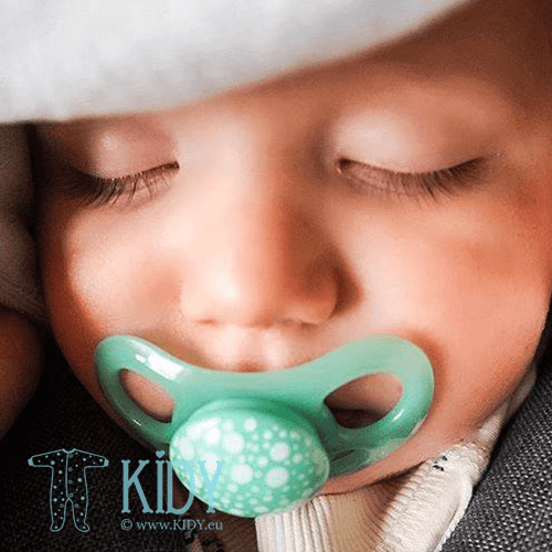 Green and blue BUBBLES pacifiers