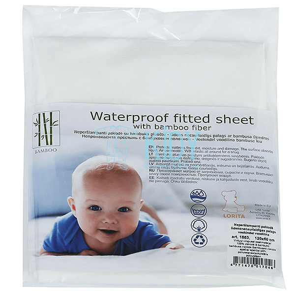 Waterproof fitted sheet with bamboo fiber