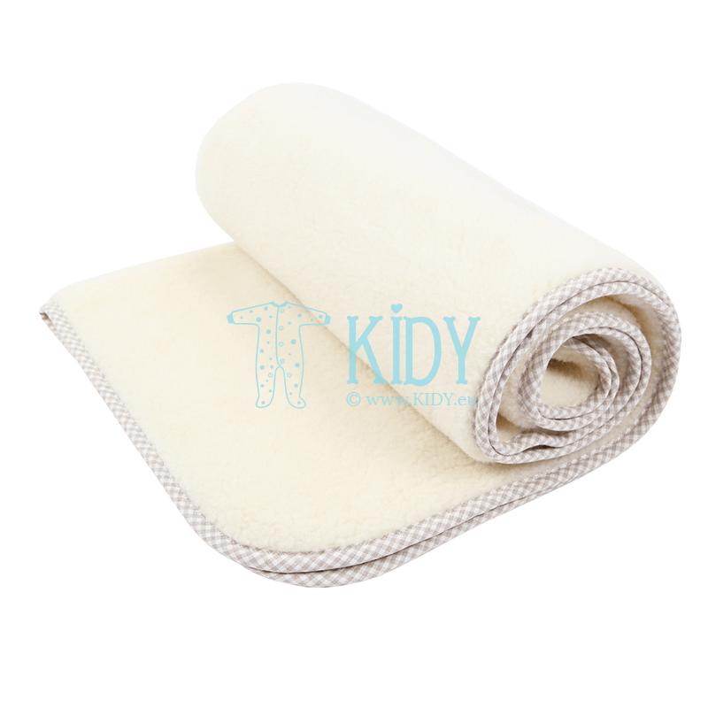 Baby merino woolen VANILLA blanket