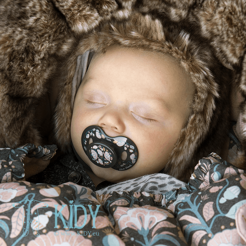 Black MIDNIGHT BELLS pacifier
