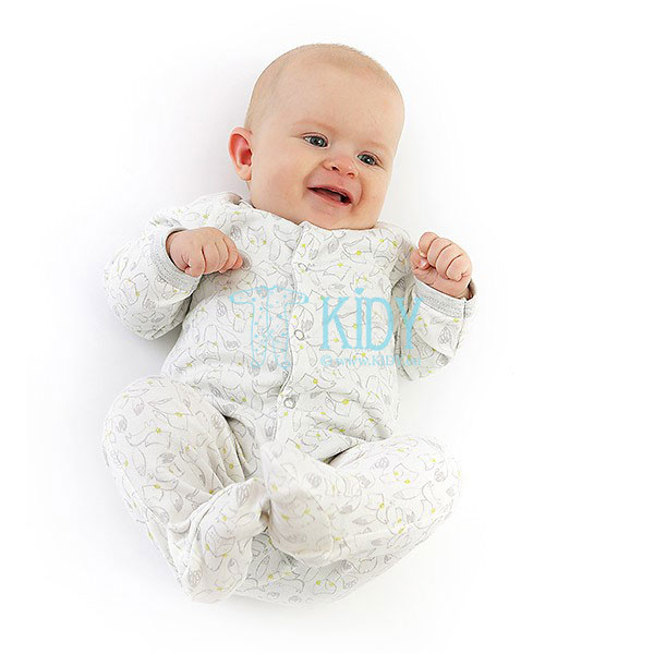 White FELIX sleepsuit