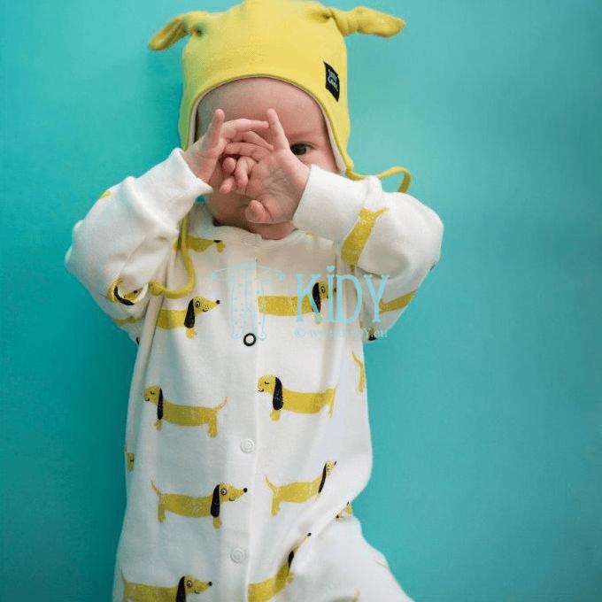 Ecru kombinezonas-pižama FUNNY DOG