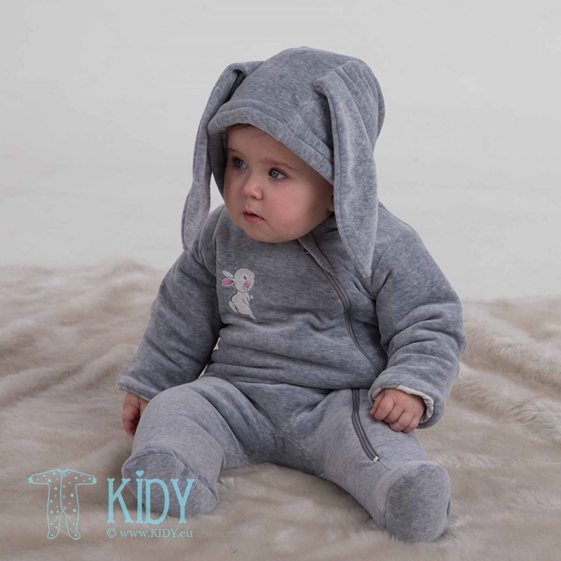 Grey warmed LITTLE BUNNY overall