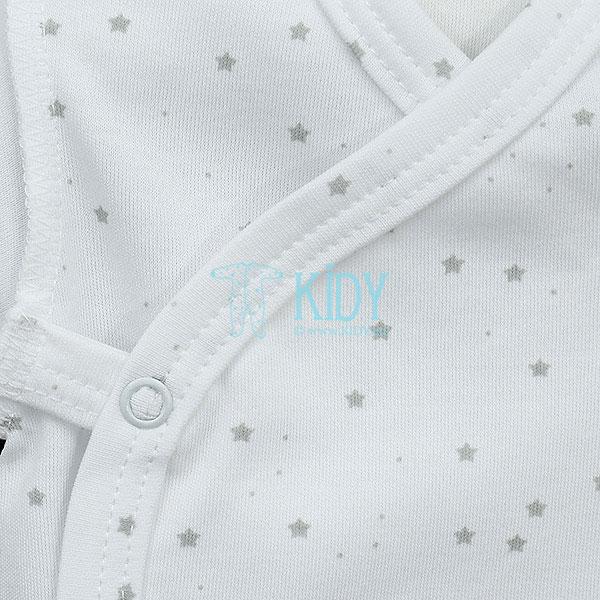 Белый боди-кимоно FLUFFY