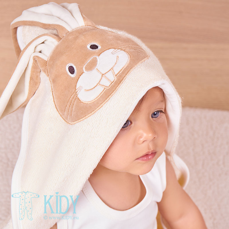 Hooded organic cotton RABIT towel