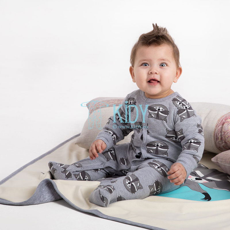 Grey RACOON sleepsuit