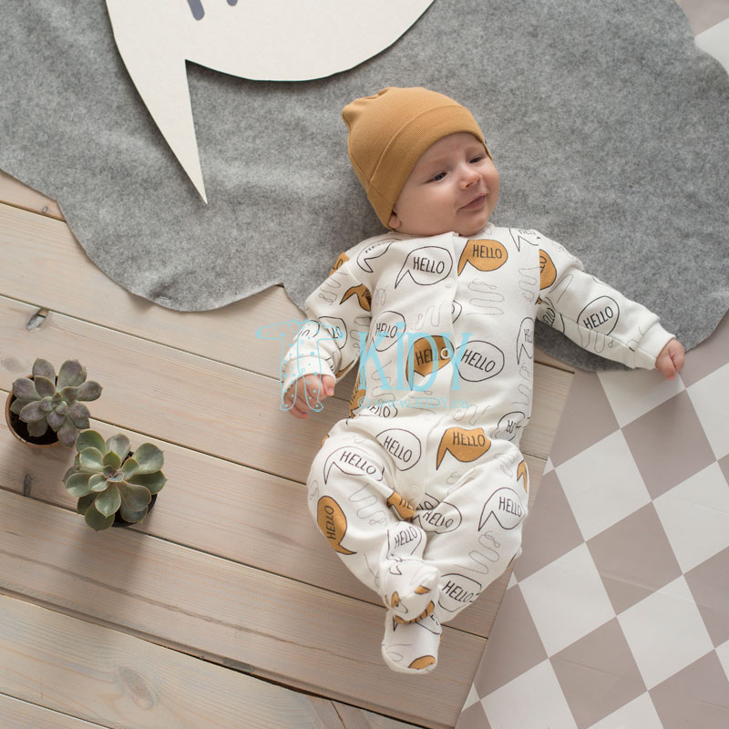 Ecru OLD CARS sleepsuit