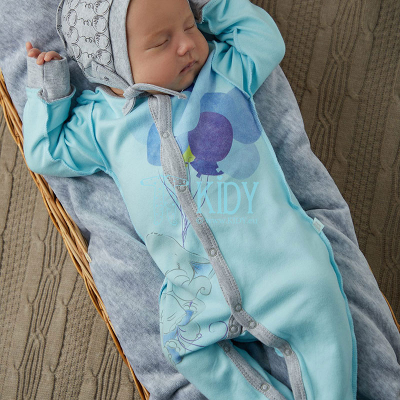 Blue ELEPHANT sleepsuit