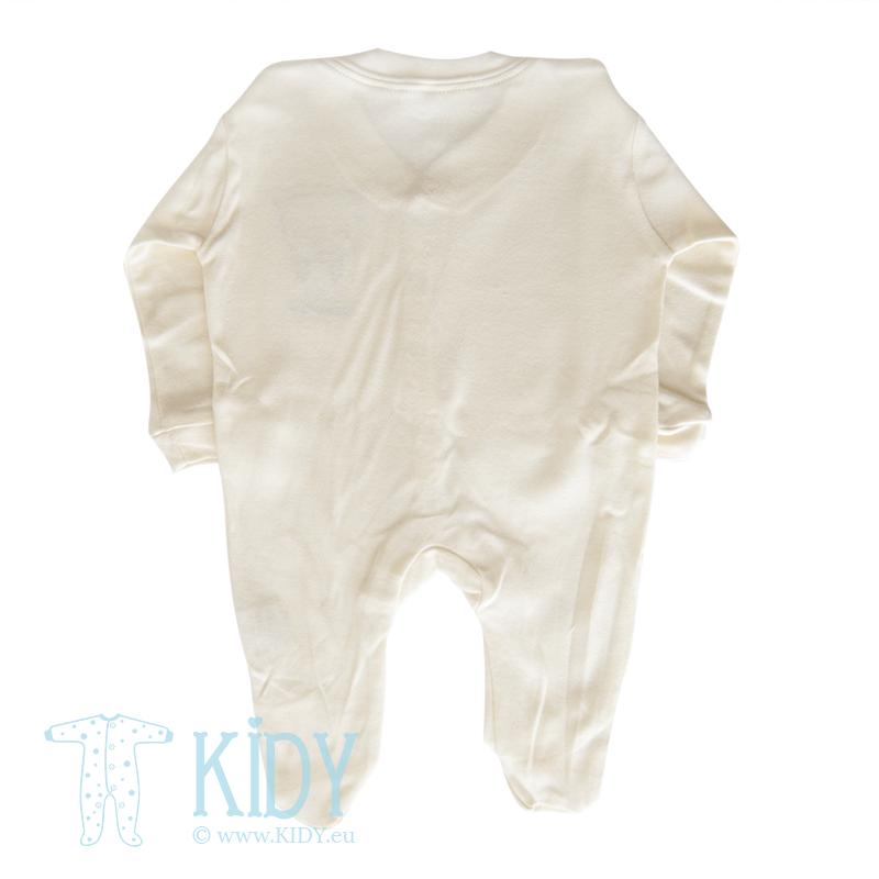 Cream sleepsuit LOVE ME (Nursery Time) 3