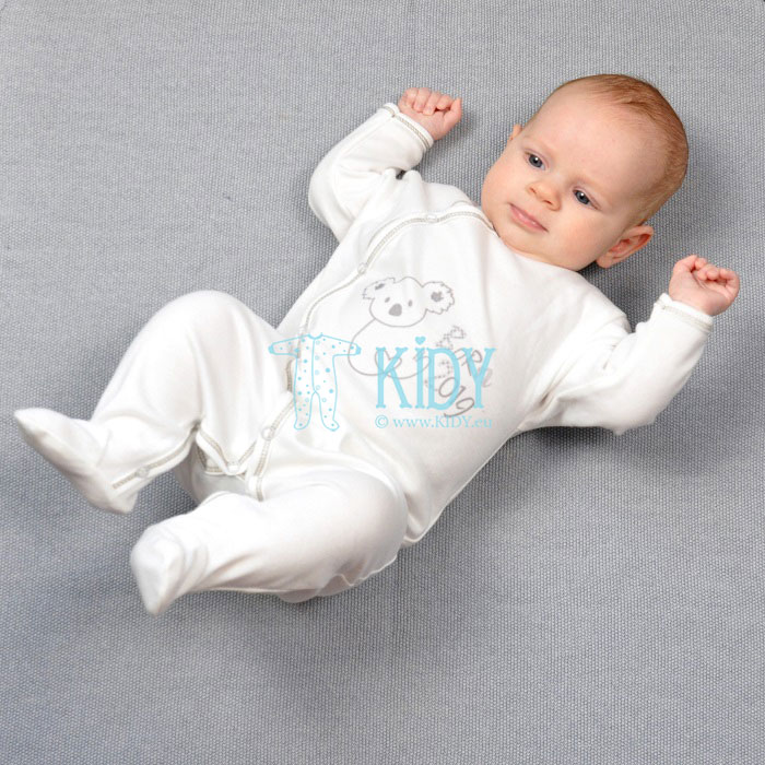 White KOALA sleepsuit BORN IN 2019