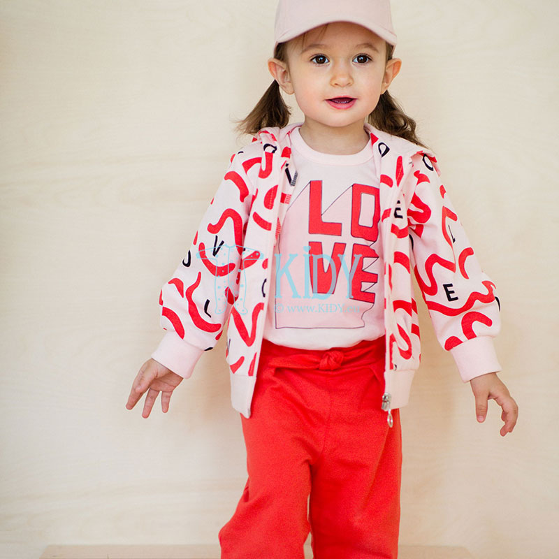 Rožinis džemperis LOVE & LOVE