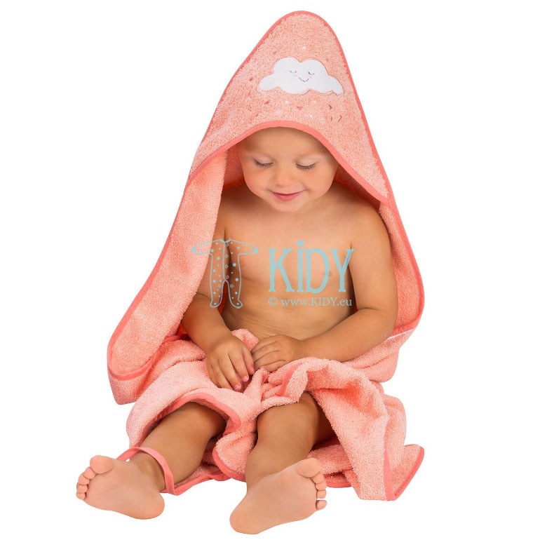 Pink SPLASH & WRAP hooded towel